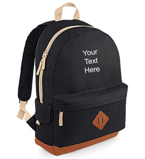Personalised Heritage Backpack Bag
